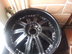22 inch 6 lug Universal black rims for Sale in Lancaster, PA