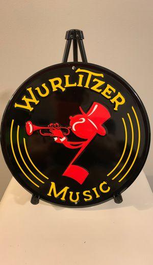 Wurlitzer Music tin sign for Sale in Chicago, IL
