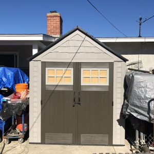 Gray Rubbermaid Tall Storage Shed 7x7 for Sale in Norwalk, CA