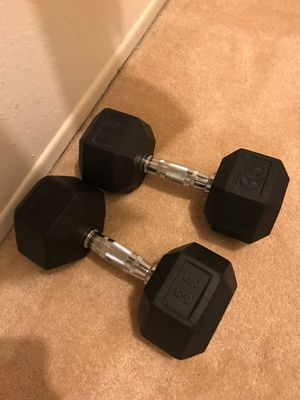 35 pound weights for Sale in Victorville, CA