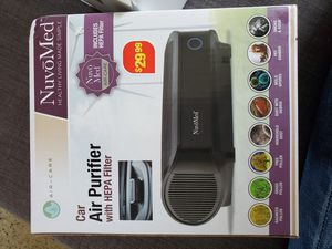 Brand new, never used, still in box, car air purifier with HEPA filter for Sale in Orlando, FL