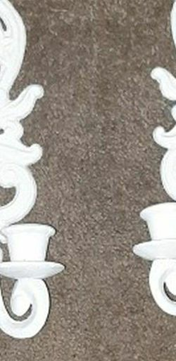 A Pair Of White Wall Candle holders for Sale in Kent,  WA