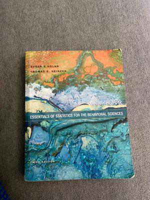 Essentials of Statistics For the Behavioral Sciences (Third Edition) for Sale in Montebello, CA