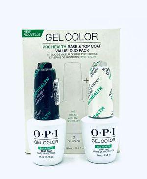 OPI Pro Health Gel Color Base + Top Coat for Sale in Charlotte, NC