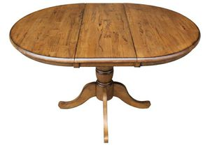 Solid wood Round/extendable dining table with chairs for Sale in Germantown, MD