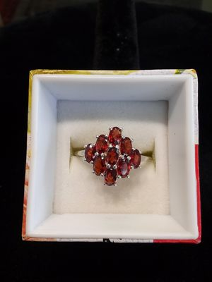Silver ring with red stones for Sale in Oak Grove, OR