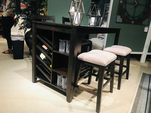 Ashley Furniture Counter Height Dining Set, Rustic Brown Finish for Sale in Fountain Valley, CA