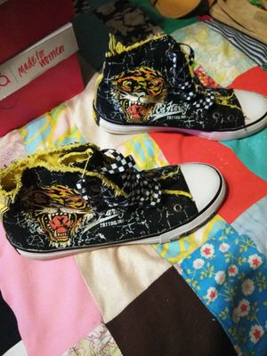 Womens Ed Hardy Sneakers Size 8 for Sale in Virginia Beach, VA