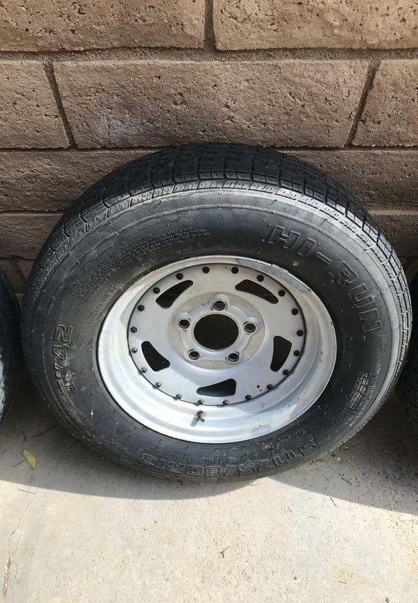 Trailer wheels/tires