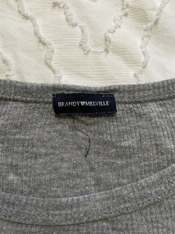 Brandy Melville gray crop top