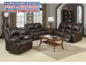Leather sofa couch recliner for Sale in Dallas, TX