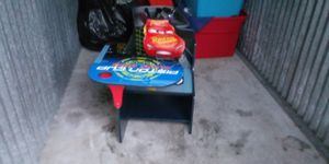 Lightning mcqueen desk with cup holder! for Sale in Everett, WA