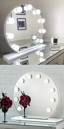 """New $210 Round 28"""" Vanity Mirror w/ 10 Dimmable LED Light Bulbs, Hollywood Beauty Makeup USB Outlet for Sale in El Monte, CA"""