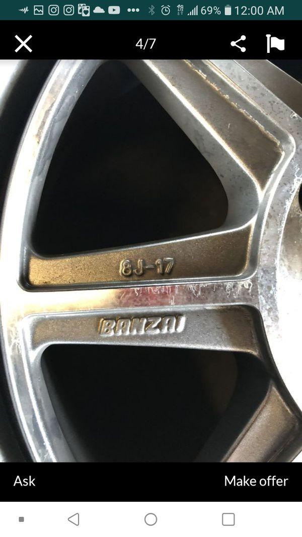 300$ OR TRADE TRADE TRADE 4x114.3 Banzai OG Axis Rims for
