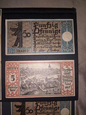 Antique German 50 Pfennig notes for Sale in Bingham, ME