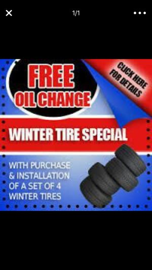 With any set of used tires get free oil change for Sale in Detroit, MI