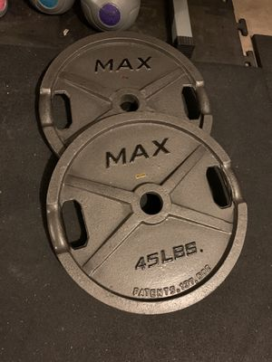 45 lb weights for weight bench for Sale in Cypress, TX