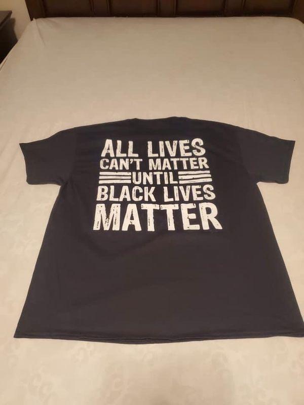 I Cant Breathe front/ All Lives Cant Matter Until Black Lives Matter