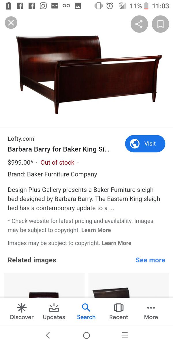 Barbara Barry Cal King sleigh bed
