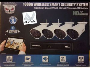 Night Owl Camera System 4 Channel 1080p Wireless Smart Security Hub camera for Sale in Silver Spring, MD