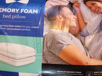 Sealy Memory Foam Bed Pillow DOUBLE Pack for Sale in Graham,  WA