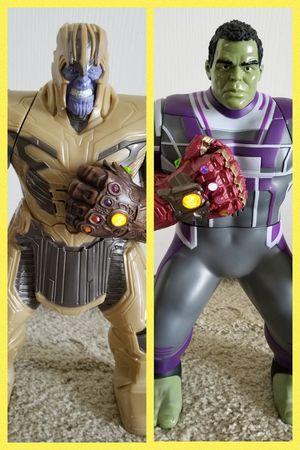 "Marvel Avengers Endgame Power Punch Hulk and Thanos Action Figure 2019 - 14"" for Sale in Sanford, FL"
