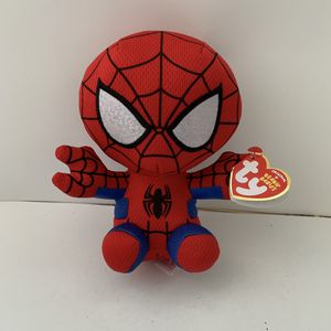 Used, NEW Spider-Man Plush Stuff Animal Toy Ty Beanie Babies Doll Spider Man for Sale for sale  Trenton, NJ