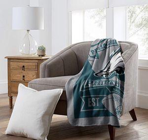 Used, Eagles Printed Fleece Throw Blanket for Sale for sale  Monroe Township, NJ