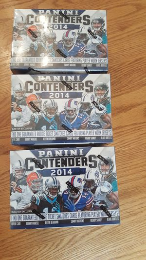 3 Sealed Blaster Boxes of 2014 Panini Contenders Football Cards for Sale in Columbia, MO
