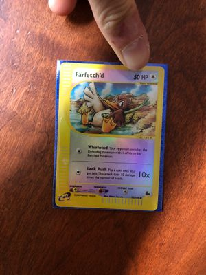 Farfetch'd Reverse Holo Pokemon Playing Card for Sale in Brookeville, MD