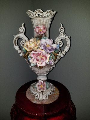 Porcelain Vase Rose Flowers Capodimonte for Sale in Orlando, FL