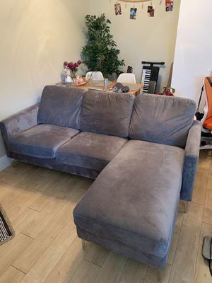 Gray Microfiber Sectional Sofa for Sale in Miami, FL