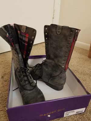 Madden boots. Size 10. Worn once. for Sale in Lake Wales, FL