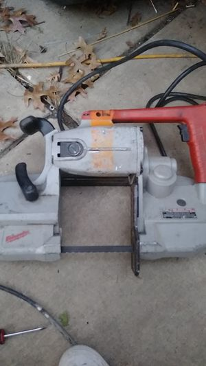 Milwaukee heavy duty bandsaw trade for welder for Sale in Stockton, CA