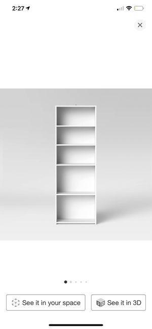 White bookshelf for Sale in Los Angeles, CA