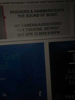 The Sound of Music— Tickets $20 for Sale in Detroit, MI