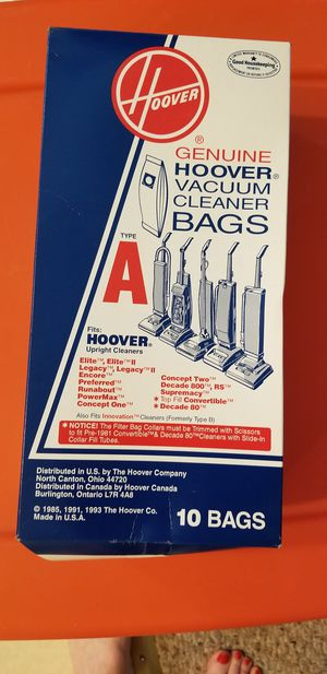 Hoover vacuum cleaner bags, type A for Sale in Homer Glen, IL