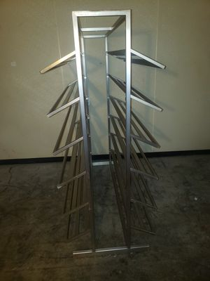 Stainless steel shoe rack 150 LB 9 available for Sale in Edwardsville, PA