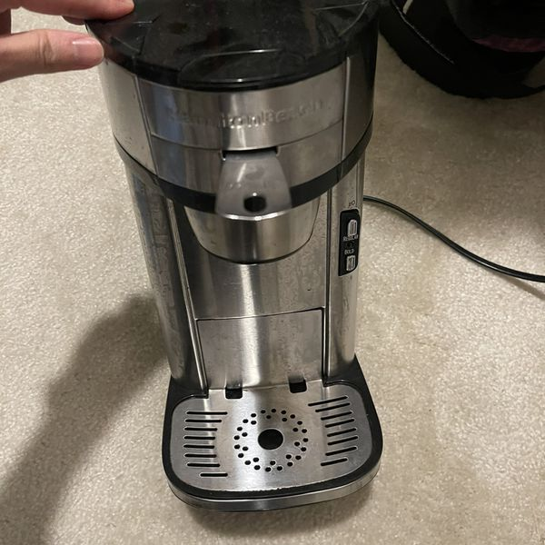 Hamilton Beach Scoop Single Serve Coffee Maker, Fast Brewing, Stainless Steel (49981A)
