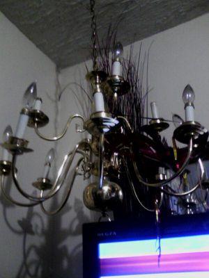 Nice chandelier brass needs light bulb's for Sale in Watertown, MA