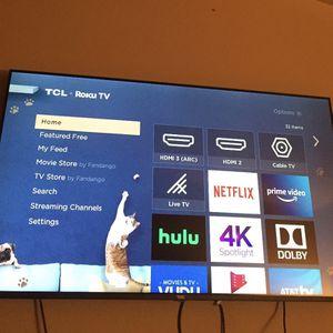 48 Inch TCL ROKU SMART TV for Sale in Soledad, CA