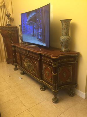Antique furniture with marble and bronze accents. for Sale in Miami, FL