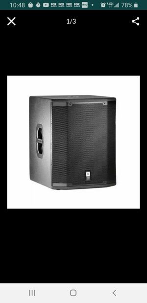 JBL PRX418S Passive, Unpowered PA Subwoofer Speaker (1600 Watts for Sale in Cleveland, OH