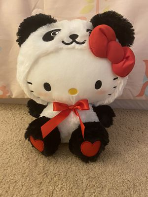 COMPLETELY BRAND NEW WITH TAGS RARE ADORABLE SANRIO LARGE BLUSHING HELLO KITTY PANDA BEAR PLUSH!! for Sale in San Diego, CA