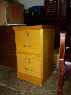 Wood Office Side File Cabinet for Sale in Dallas, TX