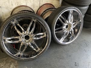 28 inch rims tires for Sale in Tacoma, WA