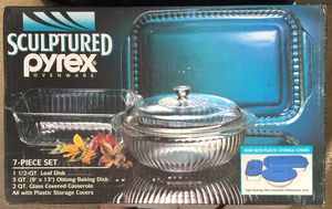 Sculptured Pyrex Ovenware Set (7-Piece) - BRAND NEW SEALED. 👉See my other offers👈 for Sale in Stockton, CA