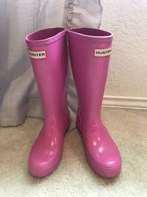 Pink Hunter Rain Boots for Sale in Converse, TX