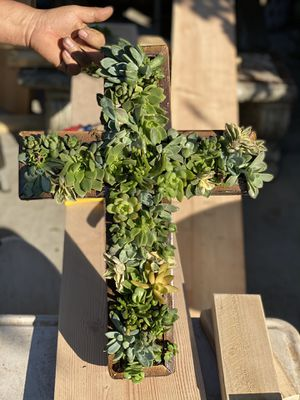 Succulent wood cross planter for Sale in Lakewood, CA