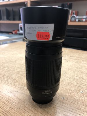 Nikon 70-300 mm f/4-5.6G Zoom Lens with Auto Focus for Nikon DSLR Cameras ....... for Sale in Baltimore, MD